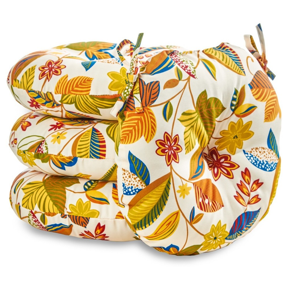 Image of 4pk 18 Esprit Floral Outdoor Bistro Chair Cushions - Greendale Home Fashions
