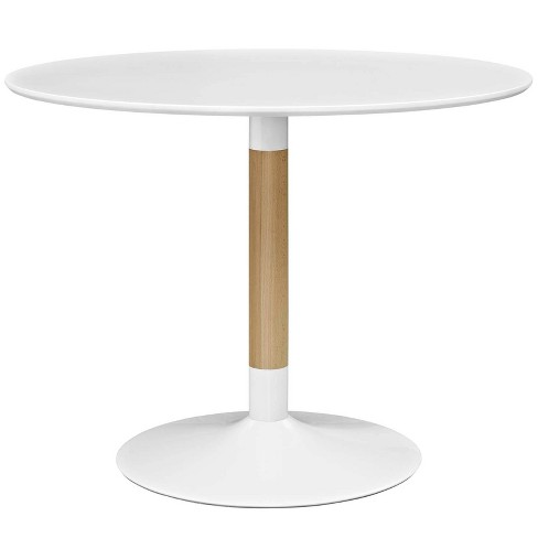 Whirl Round Dining Table White - Modway - image 1 of 4