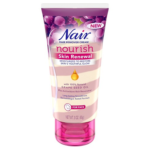Nair Skin Renewal Grape Seed Oil Hair Removal Cream For Face 3oz