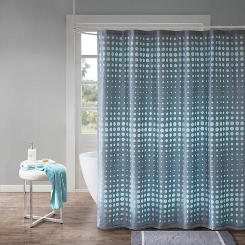 Ember Faux Silk Circle Shower Curtain