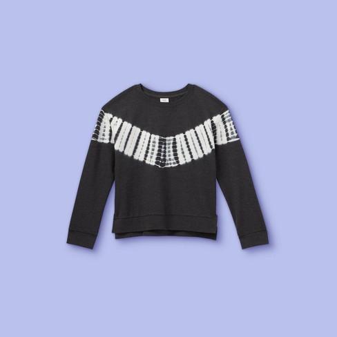 Girls' Tie-Dye Pullover Sweatshirt - More Than Magic™ - image 1 of 2