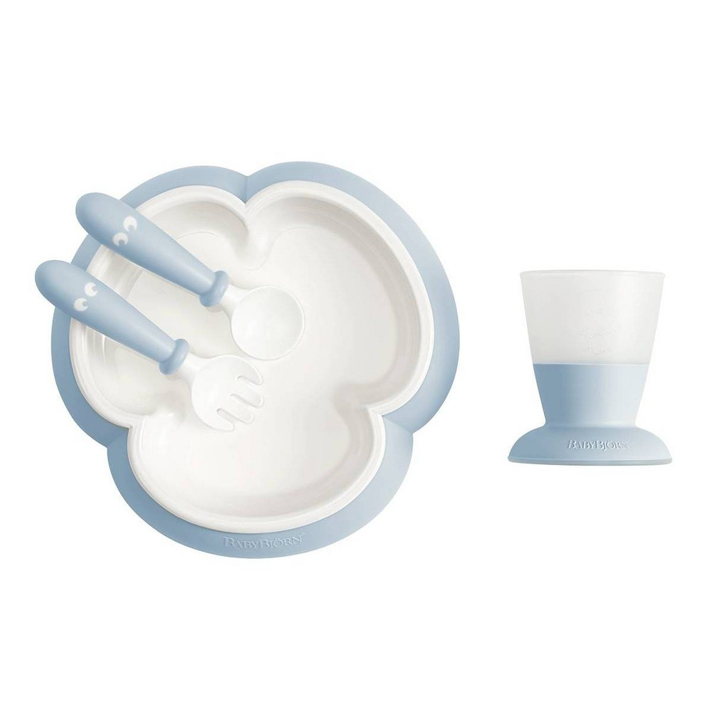Image of BabyBjorn Baby Feeding Set - Powder Blue