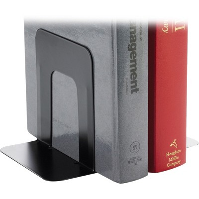 """Business Source Bookend Supports Standard 4-3/4""""x5-1/4""""x5"""" Black 42550"""