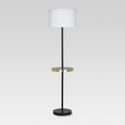 Shelf with USB Stick Floor Lamp Brass Lamp Only - Threshold™