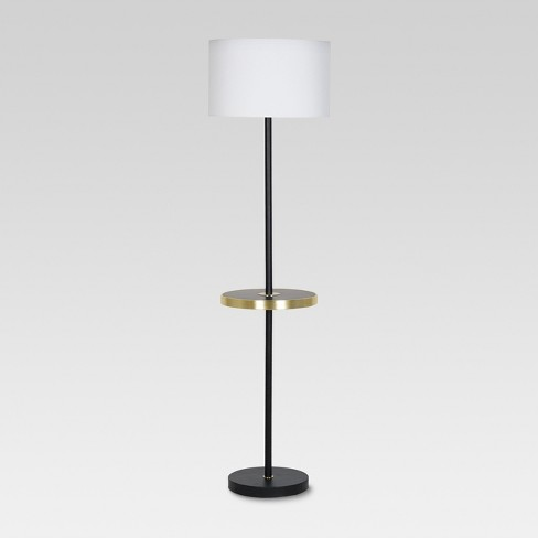 Shelf with USB Stick Floor Lamp Brass - Project 62™ - image 1 of 4