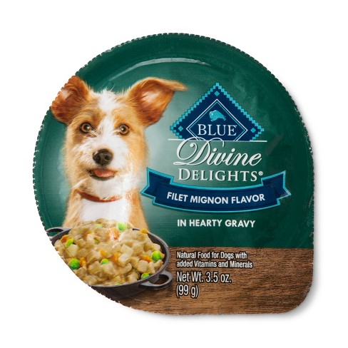 Blue Buffalo Divine Delights Filet Mignon Cuts in Gravy - Wet Dog Food - 3.5oz - image 1 of 2