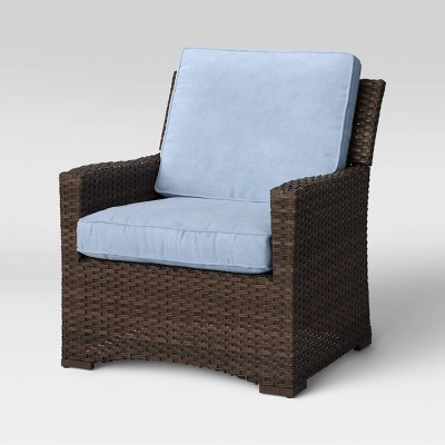 Halsted Wicker Patio Club Chair - Chambray - Threshold™