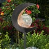 """15.55"""" Solar Lunar Torch Stake Black - Exhart - image 3 of 4"""