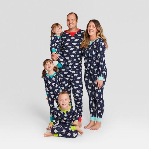 Toddler Holiday Animals Pajama Set - Wondershop™ Navy 3T   Target b7bbd991b