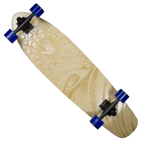 "Body Glove 34"" Laser Etched Longboard Cruiser - Wood/Blue - image 1 of 4"