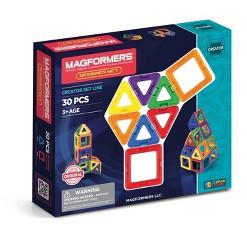 Magformers Magnetic Power Magic Rainbow Set - 30 Piece