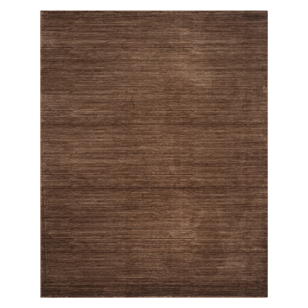 Solid Loomed Area Rug Brown