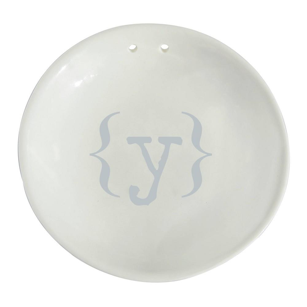 Monogram Silver Accented Wedding Ring Dish