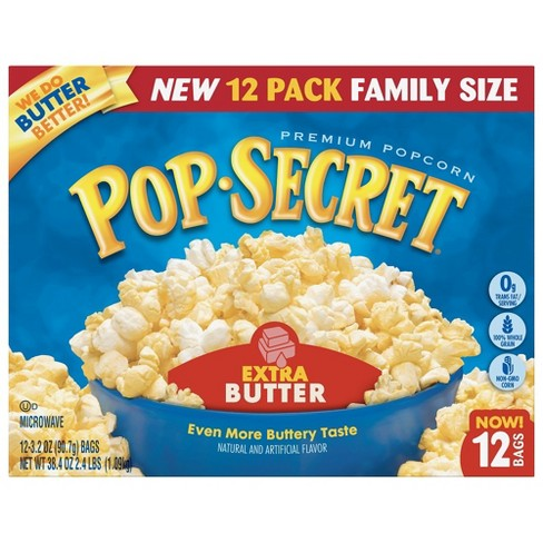 Pop Secret Extra Butter Premium Popcorn - 12pk - image 1 of 3