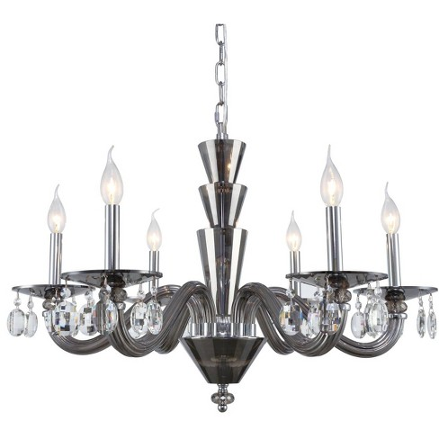 "Elegant Lighting 7870D29/RC Augusta 6 Light 29-1/2"" Wide Pillar Candle Chandelier - image 1 of 1"