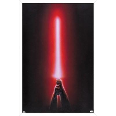 Trends International Star Wars: Original Trilogy - Red Lightsaber Framed Wall Poster Prints