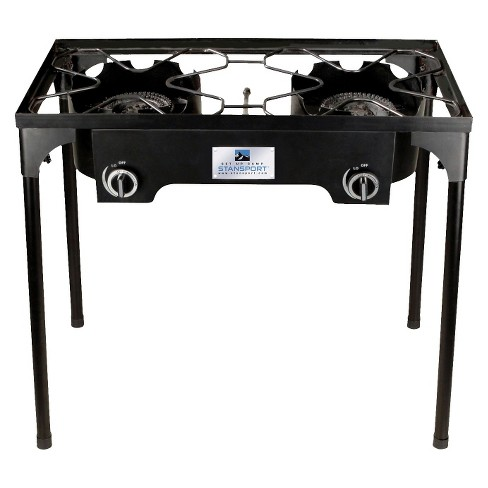 Stansport 2 Burner Cast Iron Stove with Stand - Black - image 1 of 1