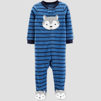 Baby Boys' Husky Microfleece Sleep 'N Play - Just One You® made by carter's Blue 9M