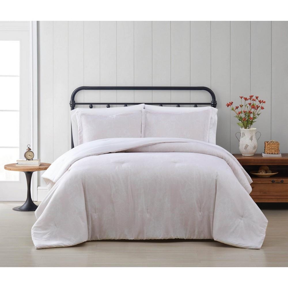 Twin Xl 2pc Spring Bloom Comforter Set Light Pink Cottage Classics