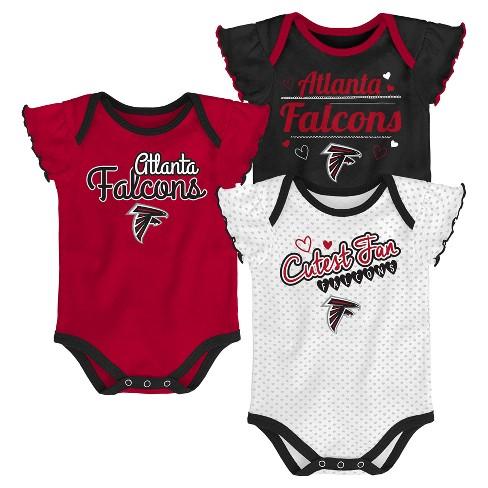 Top Atlanta Falcons Girls' Newest Fan 3pk Bodysuit Set 0 3M  free shipping