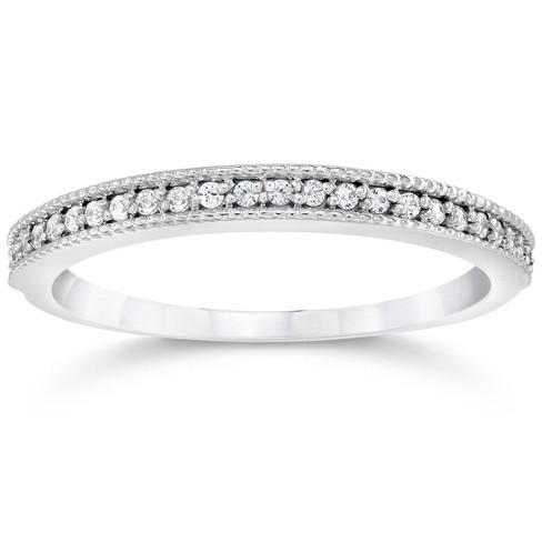 Pompeii3 1/8Ct Diamond Wedding Ring 14K White Gold Lab Created Eco Friendly - image 1 of 3
