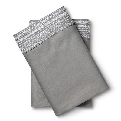 Standard 100% Linen Pillowcase Set Skyline Gray - Fieldcrest®