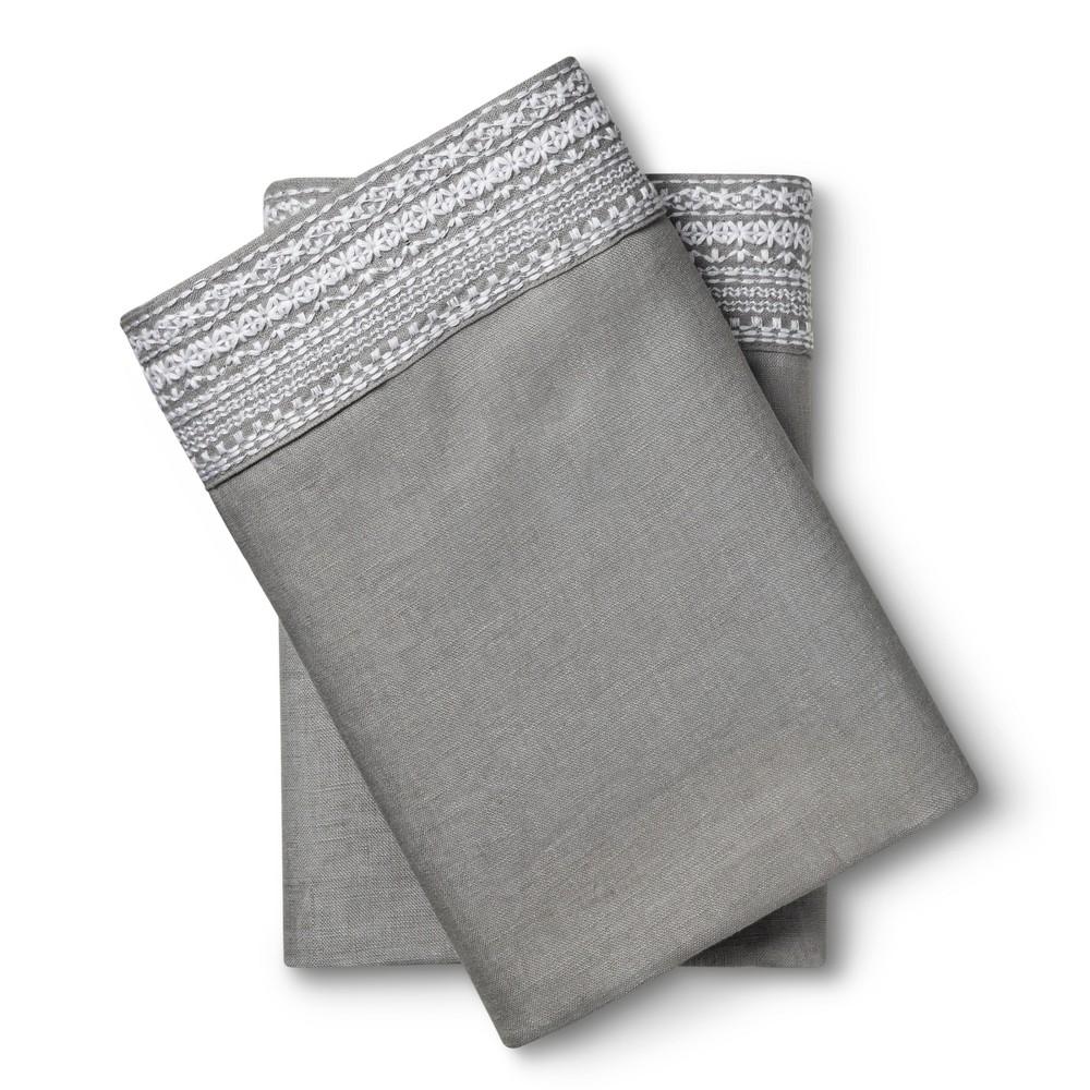 Image of 100% Linen Pillowcases (King) Skyline Gray - Fieldcrest