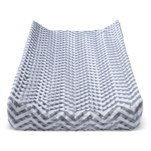 Plush Changing Pad Cover Chevron - Cloud Island™ - Gray - image 1 of 1