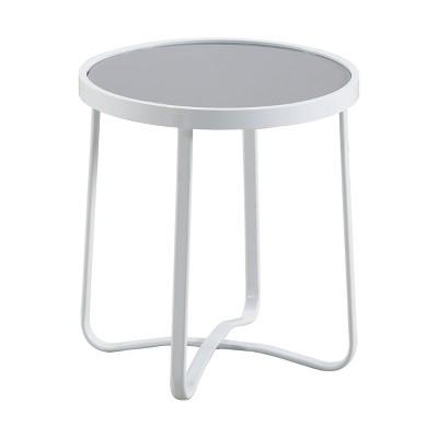 Mirabelle Outdoor Side Table - White - Adore Decor