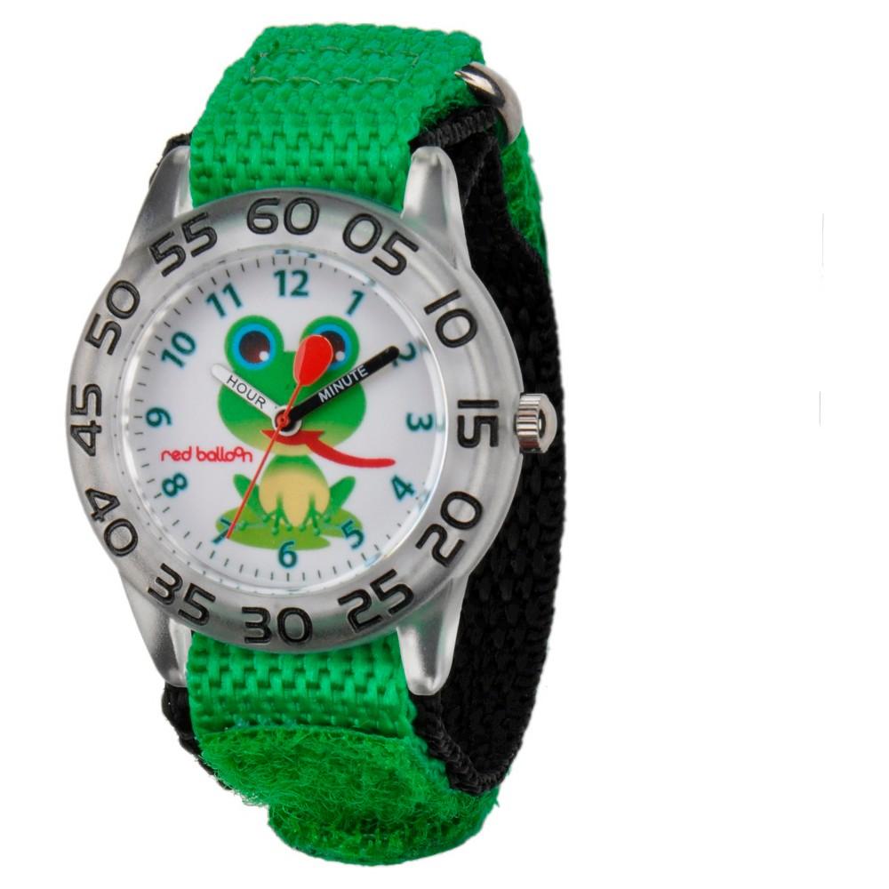 Boys Red Balloon Plastic Watch Green