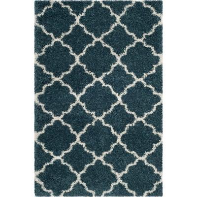 5'1 X7'6  Quatrefoil Design Loomed Area Rug Slate Blue/Ivory - Safavieh