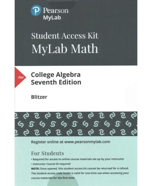 MyLab Math with Pearson eText Standalone Access Card for College Algebra (Hardcover) (Robert F. Blitzer) - image 1 of 1