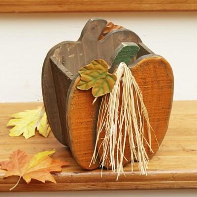 Lakeside Rustic Pumpkin Planter - Indoor Outdoor Harvest or Halloween Decoration