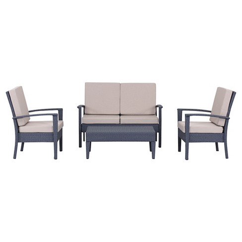 Myers Outdoor Seating Set Of 4 - Safavieh® - Myers Outdoor Seating Set Of 4 - Safavieh® : Target