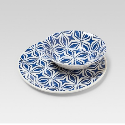 Dinnerware Set Blue Mosaic Design - Threshold™