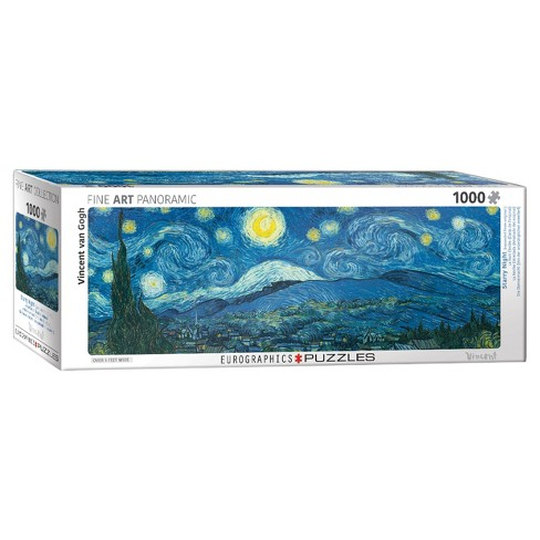 Starry Night (Expanded from original) by Vincent van Gogh 1000pc Pano Puzzle - image 1 of 1