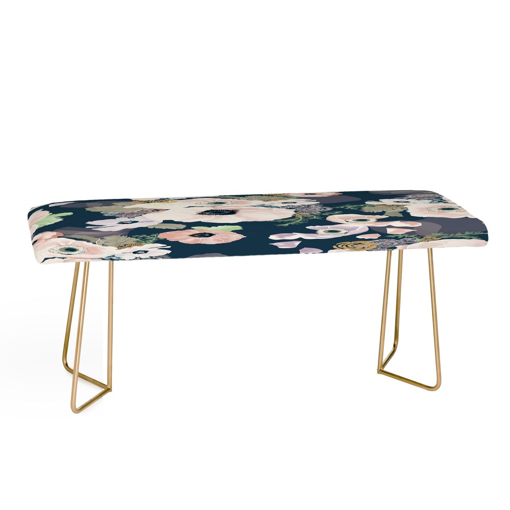 Khristian A Howell Une Femme in Blue Bench - Deny Designs, Gold