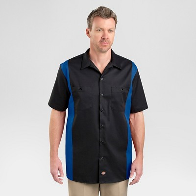 DickiesR Mens Big Tall Relaxed Fit Two Tone Twill Short Sleeve Work Shirt Target