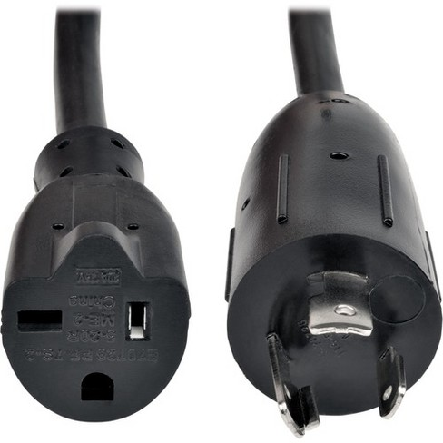 2 Feet Heavy Duty Extension Cord 12AWG BlackNEMA L5-20P to NEMA 5-20R