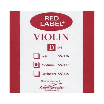 Super Sensitive Red Label Violin D String