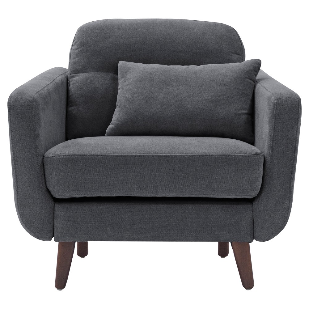Sierra Arm Chair - Slate (Grey) Gray - Serta