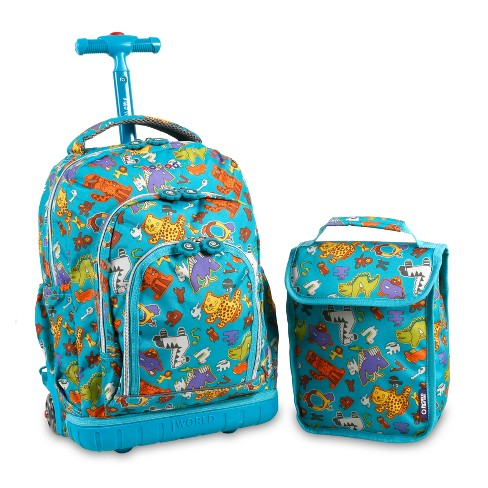 """J World Lollipop 16"""" Rolling Backpack with Lunch Bag - Aniphabets - image 1 of 4"""