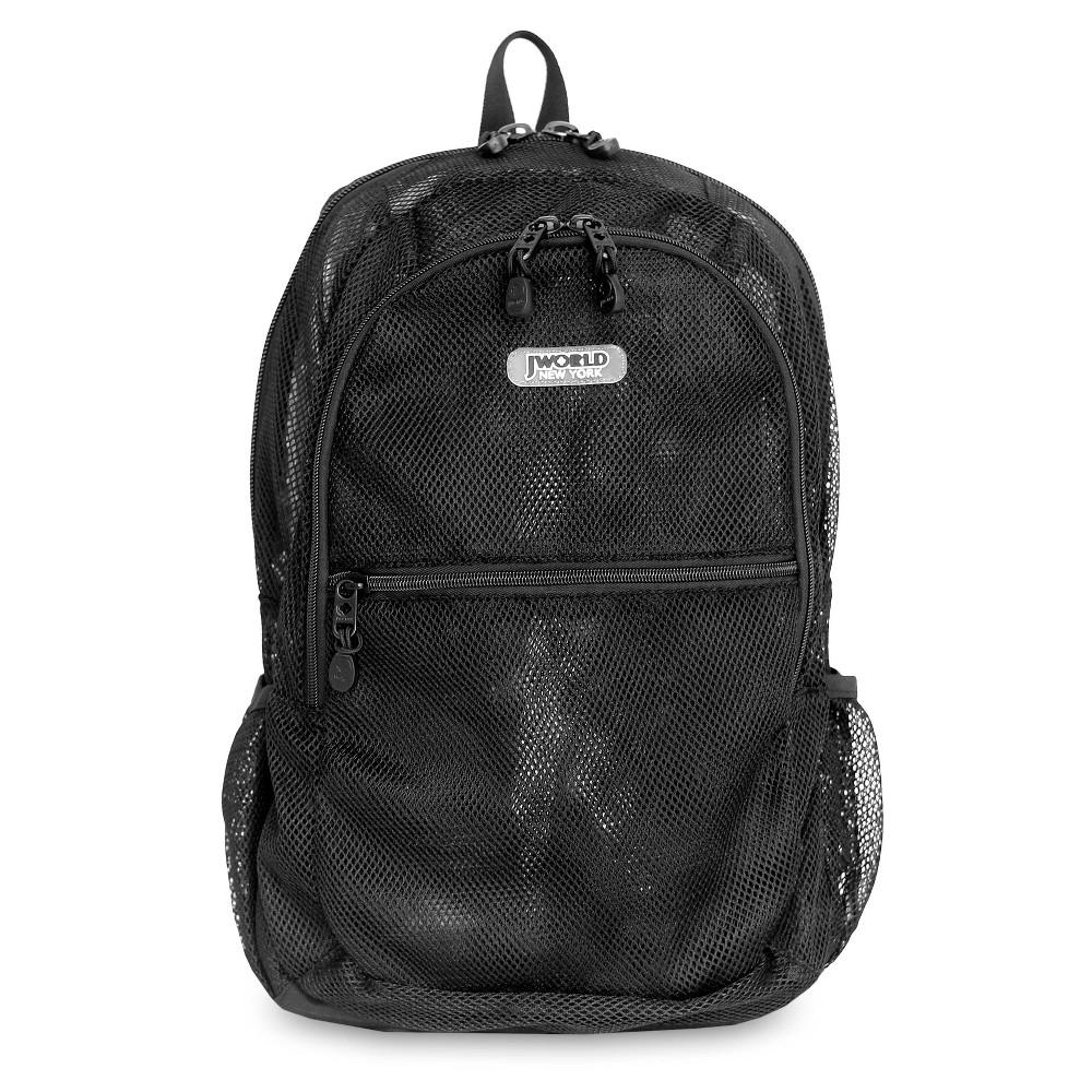 J World 18 Mesh Backpack Black