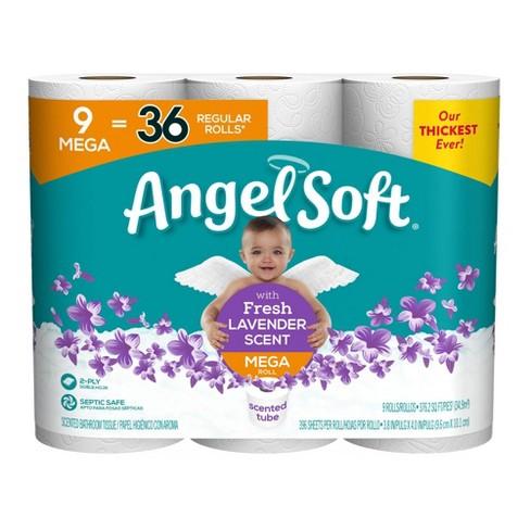 Angel Soft Fresh Lavender Scented Toilet Paper - 9 Mega Rolls - image 1 of 4