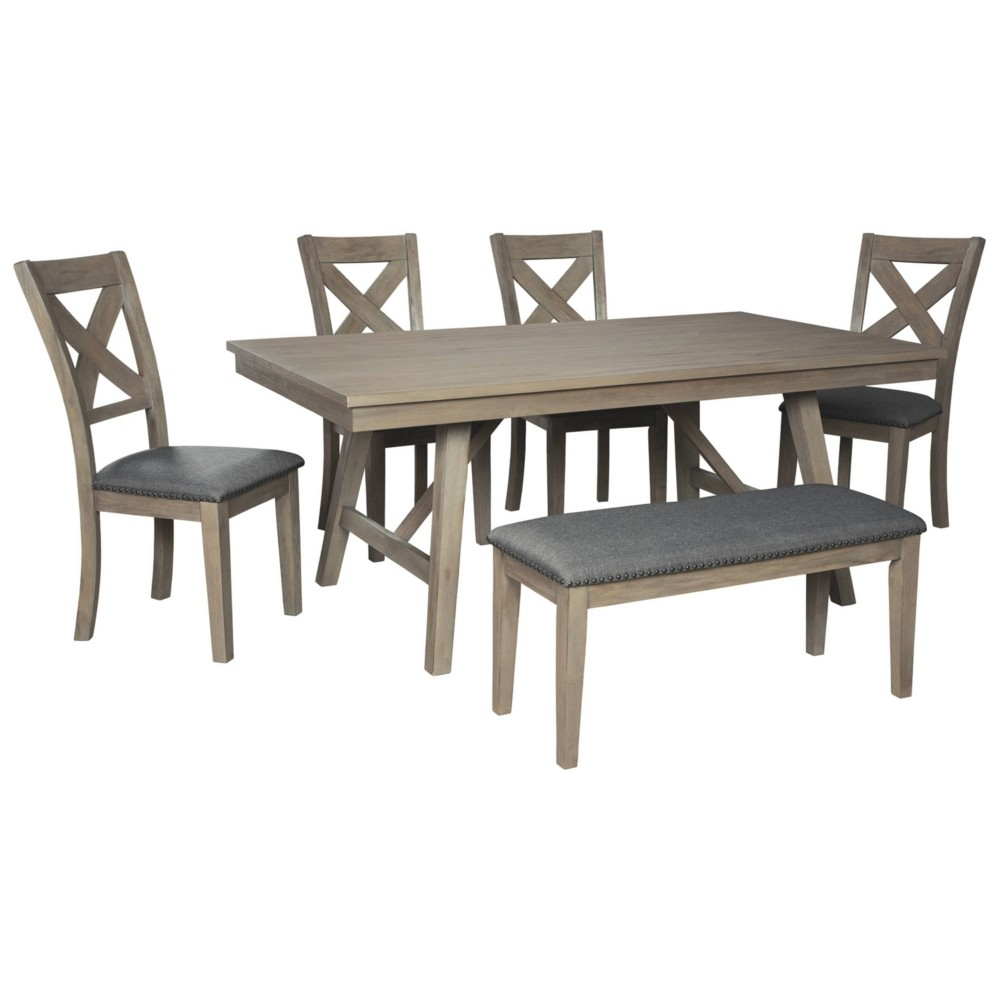Aldwin Rectangular Dining Room Table Dark Gray - Signature Design by Ashley