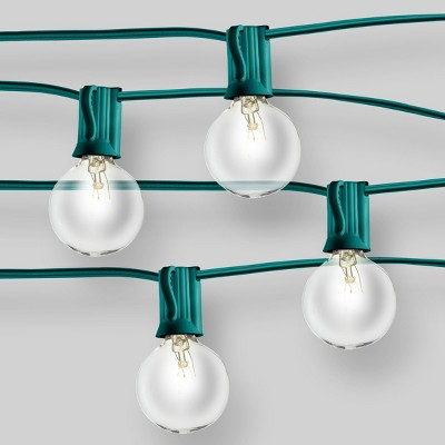 20ct Incandescent Outdoor String Lights G40 Clear Bulbs - Green Wire - Room Essentials™