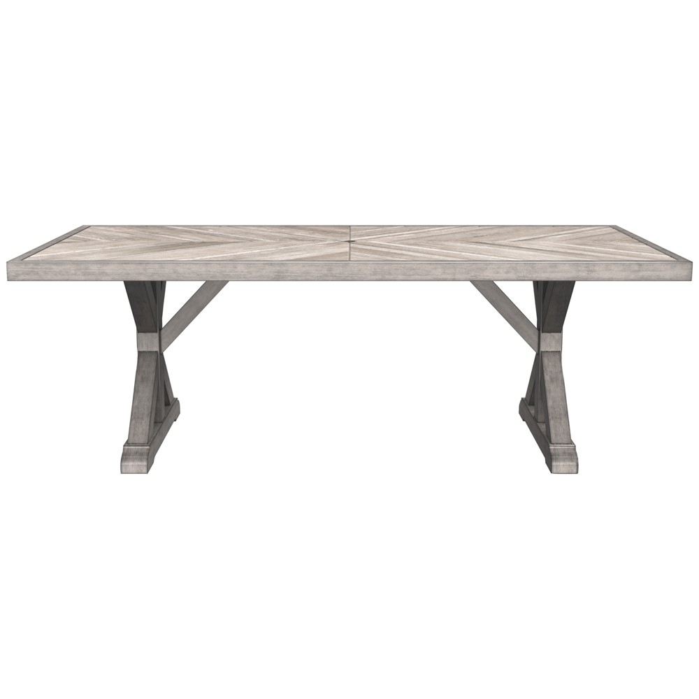 Patio Dining Table - Beige - Outdoor by Ashley