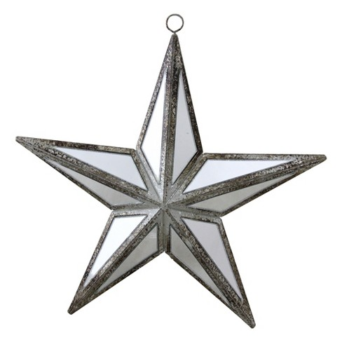 "Northlight 5.75"" Mirrored Five Point Star Christmas Ornament - Gray - image 1 of 4"