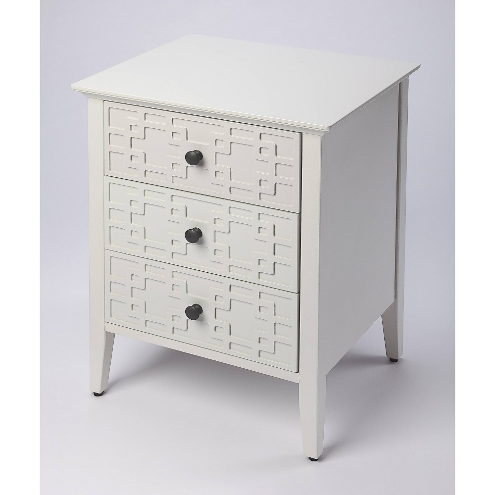 Kinsley 3Drawer Accent Chest Off - White - Butler Specialty, Beige
