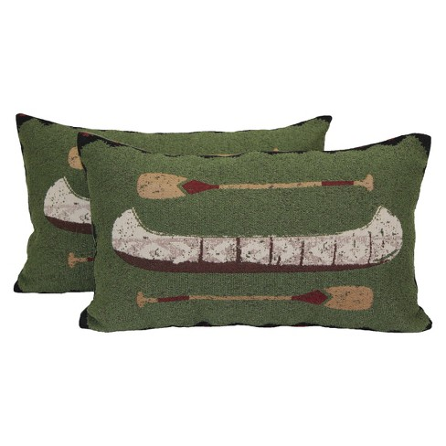 "Canoe Lodge Toss Throw Pillow 2 Pack (19.5""x12"") - Brentwood - image 1 of 1"